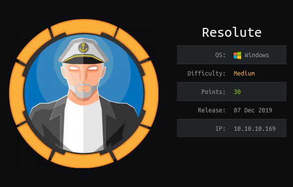 Hackthebox Resolute writeup image